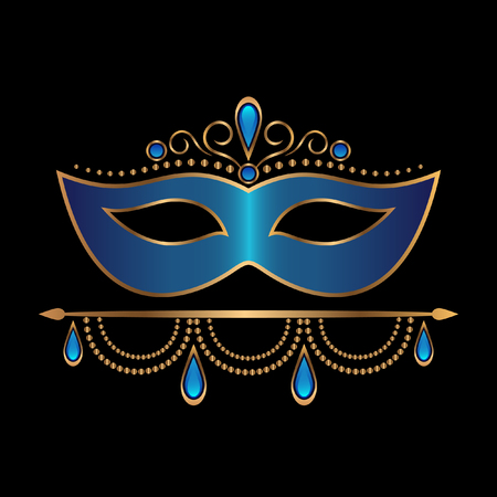 Blue mask with diadem