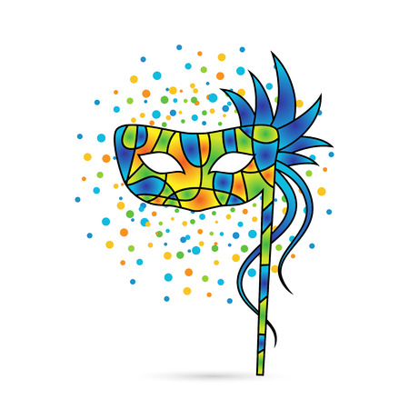 colorful carnival mask Vector illustration.