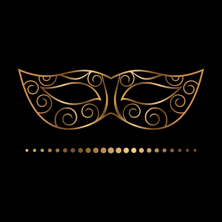 delicate golden mask vector illustration 矢量图像