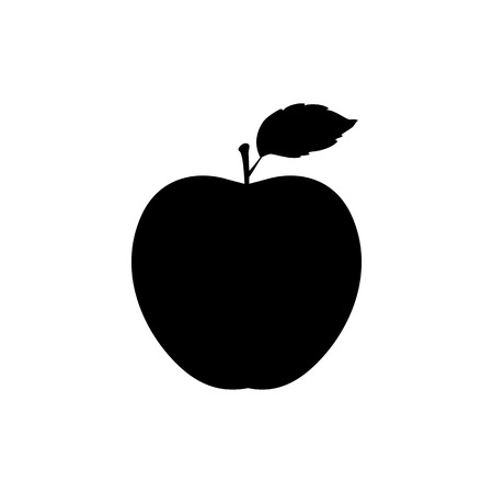 Black apple silhouette illustration