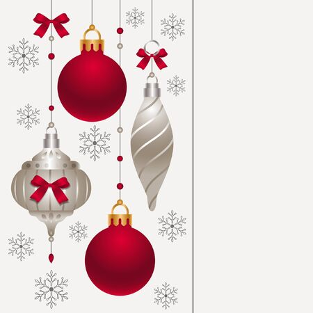 card with Christmas decoration