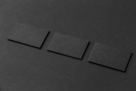 Mockup of three horizontal business cards at black textured paper mockup of three horizontal business cards at black textured paper background stock photo 66818731 colourmoves