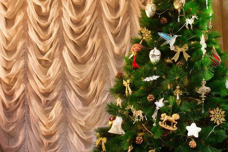Closeup image of decorated christmas tree. Kho ảnh