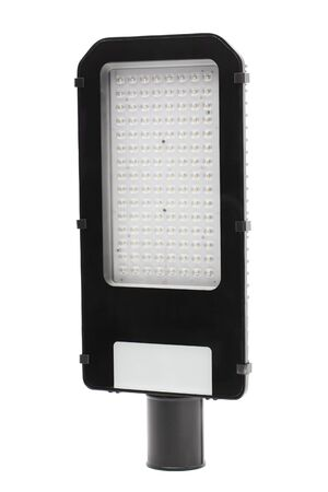 Closeup image of modern outdoor LED lamp isolated at white background. 版權商用圖片