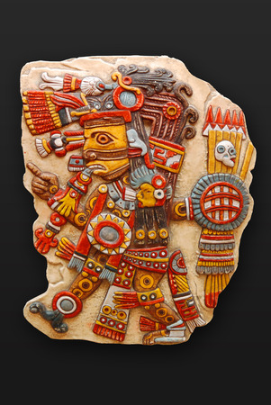 mesoamerica: Stone god Tezacatlipoca sons of Ometeotl latin america
