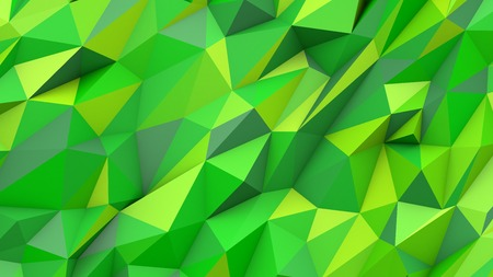 Green lime abstract crystal mosaic creative triangles poly colors geometric polygonal shape background Banco de Imagens