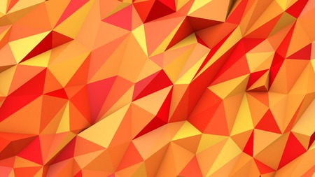 topaz: Orange red abstract crystal mosaic creative triangles poly colors geometric polygonal shape background