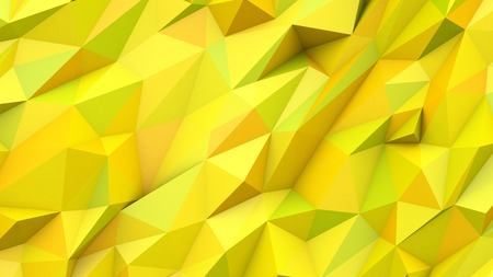 citric: Yellow green abstract crystal mosaic creative triangles poly colors geometric polygonal shape background Stock Photo