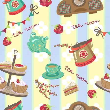 scone: tea room pattern Illustration