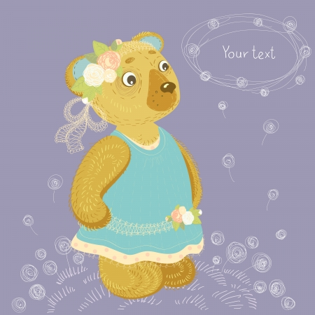 bear girl Vector