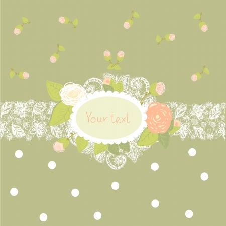 vintage greeting card Stock Vector - 24677067