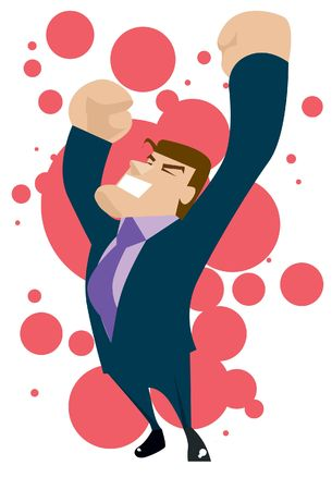 An image of a businessman celebrating his success Stock Photo
