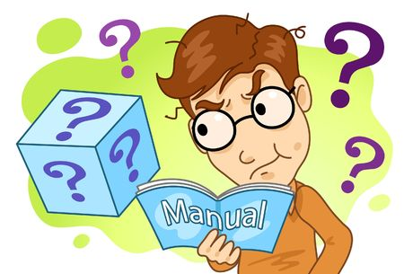 Image of a man who is trying to solve problem and riddles.