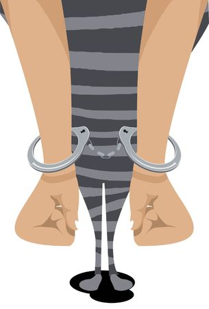 Image of a prisoner who is locked with handcuff. Stock Photo - 5929723