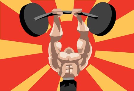 An image of a weightlifter lifting a barbell
