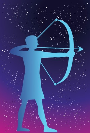 An image showing the archer which symbolizes the zodiac sign of Sagittarius  photo