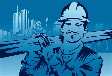 Image of a constructor who is working on his construction site.