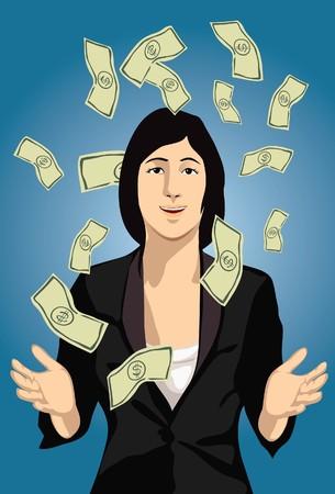 prosperous: Image of a prosperous lady who has plenty of cash.