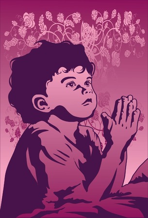 god in heaven: An image of young boy who is praying for the god for guidance