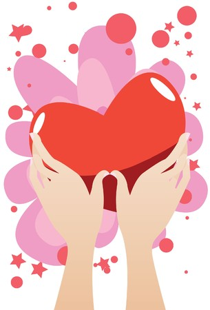 liaison: Image of a heart which is given to the right person on valentine day. Stock Photo
