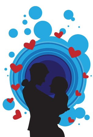 Image of man and women who are hugging each other with love. Stock Photo