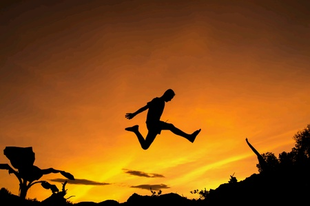 man: Man jumping