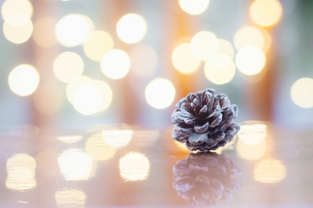 Close up of pinecone for Christmas or New Year decoration background