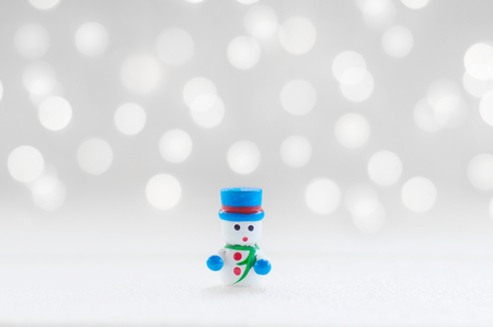 Snow man doll for Christmas decoration background