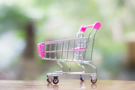 Close up of empty shopping cart Banco de Imagens - 123010356