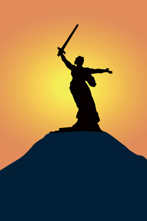 defenders: Mamayev Kurgan - the Native land-mother a monument to defenders of Stalingrada in Russia