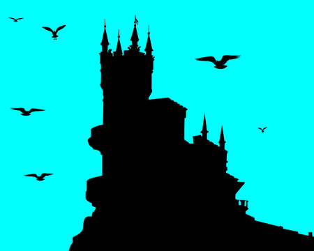Lock silhouette in Crimea Stock Vector - 7667233