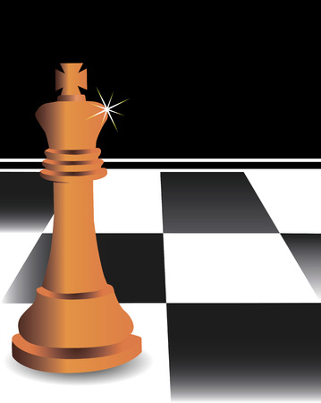 The chess king against a chessboard Vector
