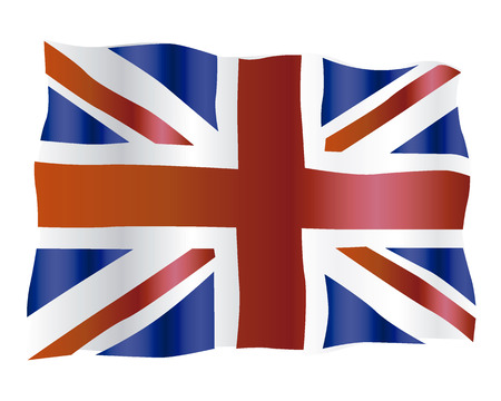 flag of a Joint Kingdom of Great Britain on a white background