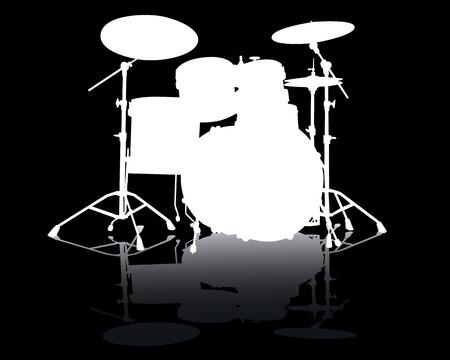 White silhouette of drum-type installation