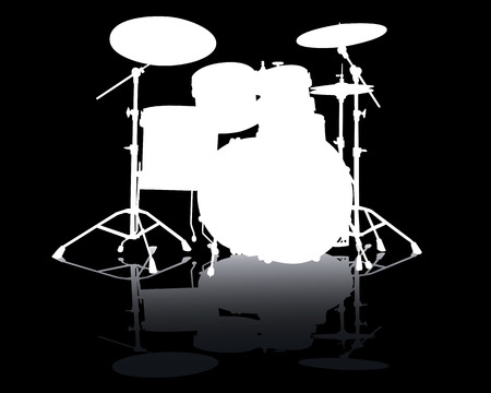 키트: White silhouette of drum-type installation