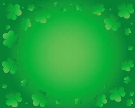 green background created from a group of leaf clover Stock Vector - 8902167