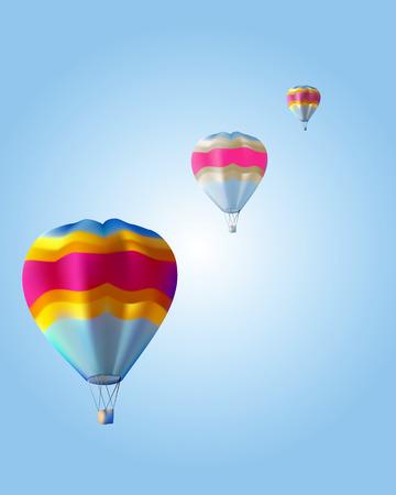 three balloon against a blue background