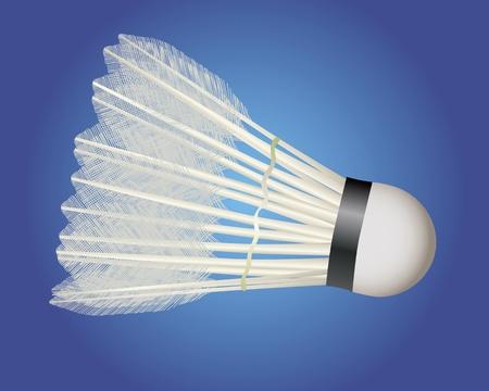 badminton shuttlecock on a blue background