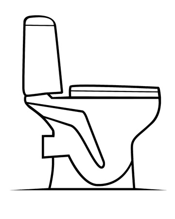 toilet bowl: drawing bowl on a white background