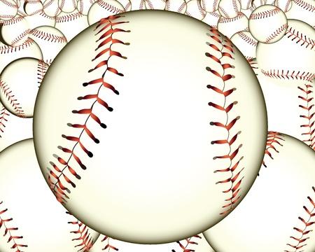 ball baseball baseballs against the background Illustration