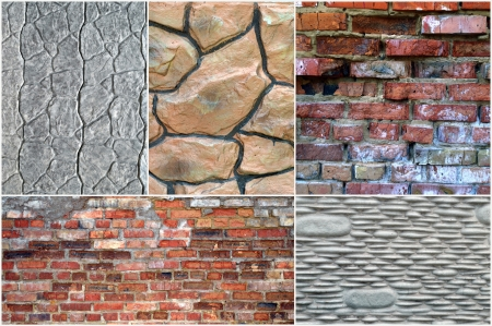 collage made  of stone and brick photo