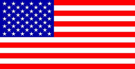 us flag: color image striped banner of the Stars U.S.