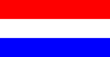 unitary: color isolated illustration of the flag of the Netherlands Illustration