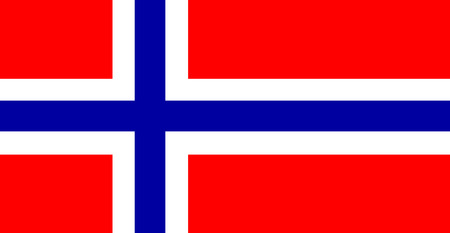 norwegian flag: color isolated illustration of the flag of Norway