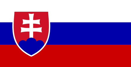 slovakia flag: color isolated illustration of flag Slovakia