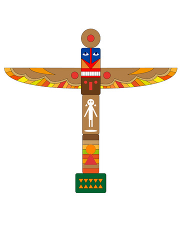 genealogy: Native American totem on a white background