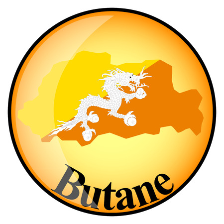 butane: orange button with the image maps of button Butane in the form of national flag