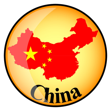 orange button with the image maps of China in the form of national flag