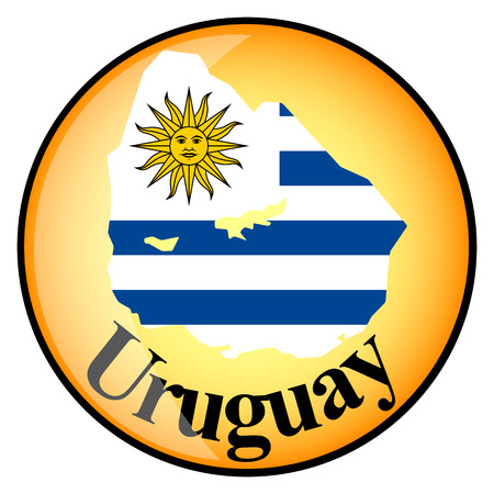 orange button with the image maps of Uruguay in the form of national flag