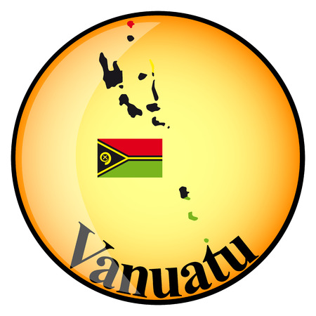 vanuatu: orange button with the image maps of Vanuatu in the form of national flag Illustration